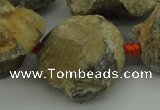 CNG1045 15.5 inches 15*20mm - 25*35mm nuggets inkstone fossil beads