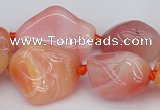 CNG1080 15.5 inches 12*20mm - 14*35mm nuggets red botswana agate beads