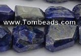CNG1088 15.5 inches 15*20mm - 18*25mm faceted nuggets lapis lzuli beads