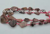 CNG1110 15.5 inches 10*15mm - 25*35mm nuggets rhodochrosite beads