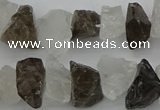 CNG1130 8*12mm - 13*18mm nuggets white crystal & smoky quartz beads