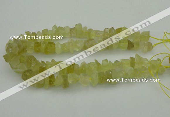 CNG1134 15.5 inches 8*12mm - 13*18mm nuggets lemon quartz beads