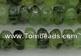 CNG1179 15.5 inches 6*14mm - 8*14mm nuggets green rutilated quartz beads