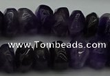 CNG1180 15.5 inches 6*14mm - 8*14mm nuggets amethyst beads