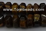 CNG1185 15.5 inches 6*14mm - 8*14mm nuggets yellow tiger eye beads