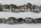 CNG12 15.5 inches 8*14mm nuggets labradorite gemstone beads
