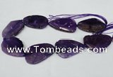 CNG1210 15.5 inches 30*45mm - 35*50mm freeform agate beads