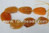 CNG1211 15.5 inches 35*45mm - 45*55mm freeform agate beads