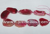 CNG1218 15.5 inches 25*35mm - 35*45mm freeform agate beads