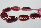 CNG1220 15.5 inches 30*45mm - 40*55mm freeform agate beads