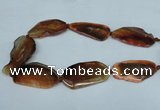 CNG1235 15.5 inches 25*40mm - 30*55mm freeform agate beads