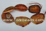 CNG1237 15.5 inches 40*50mm - 55*65mm freeform agate beads