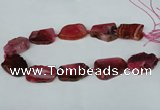 CNG1239 15.5 inches 25*35mm - 30*45mm freeform agate beads