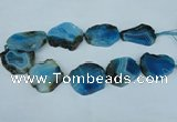 CNG1241 15.5 inches 30*40mm - 40*50mm freeform agate beads