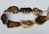 CNG1246 15.5 inches 30*50mm - 40*60mm freeform agate beads