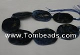 CNG1260 15.5 inches 40*50mm - 45*55mm freeform agate beads