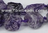 CNG1306 15.5 inches 8*12mm � 25*35mm nuggets amethyst beads
