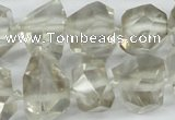 CNG1314 12*18mm � 14*28mm faceted nuggets smoky quartz beads