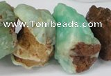 CNG1317 10*20mm � 20*40mm nuggets australia chrysoprase beads