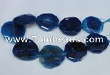 CNG1343 15.5 inches 42*45mm faceted freeform agate beads