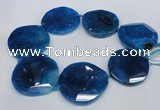 CNG1349 15.5 inches 52*55mm faceted freeform agate beads