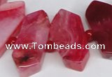 CNG1393 15.5 inches 15*25mm - 20*40mm wand agate gemstone beads