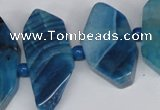 CNG1396 15.5 inches 15*25mm - 20*40mm wand agate gemstone beads