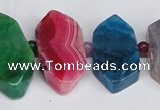 CNG1397 15.5 inches 15*25mm - 20*40mm wand agate gemstone beads