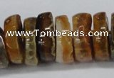 CNG1456 15.5 inches 8*25mm - 12*25mm nuggets agate gemstone beads