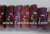 CNG1457 15.5 inches 8*25mm - 12*25mm nuggets agate gemstone beads