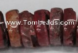 CNG1460 15.5 inches 10*30mm - 12*30mm nuggets agate gemstone beads