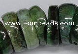 CNG1461 15.5 inches 11*30mm - 13*30mm nuggets agate gemstone beads