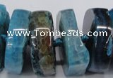 CNG1467 15.5 inches 12*35mm nuggets agate gemstone beads