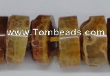 CNG1472 15.5 inches 10*25mm - 14*25mm nuggets agate gemstone beads