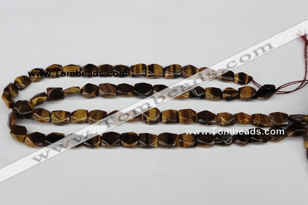 CNG15 15.5 inches 10*12mm faceted nuggets yellow tiger eye beads