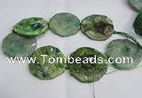 CNG1552 15.5 inches 50*52mm faceted freeform agate beads