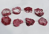 CNG1561 30*35mm - 35*40mm freeform plated druzy agate beads