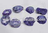 CNG1562 30*35mm - 35*40mm freeform plated druzy agate beads