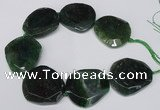 CNG1608 15.5 inches 45*50mm faceted freeform agate beads