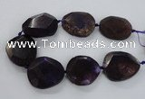 CNG1629 15.5 inches 40*45mm - 45*50mm faceted freeform agate beads