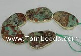 CNG1636 8 inches 40*45mm - 45*55mm freeform ocean agate beads