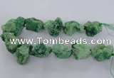 CNG1671 15.5 inches 22*30mm - 25*45mm nuggets plated druzy agate beads