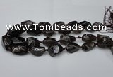 CNG1707 15.5 inches 15*20mm - 18*35mm nuggets smoky quartz beads