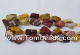 CNG1730 15.5 inches 15*20mm - 20*30mm nuggets mookaite beads