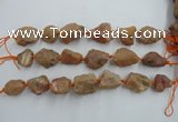 CNG1831 8 inches 15*20mm - 20*25mm nuggets plated red agate beads
