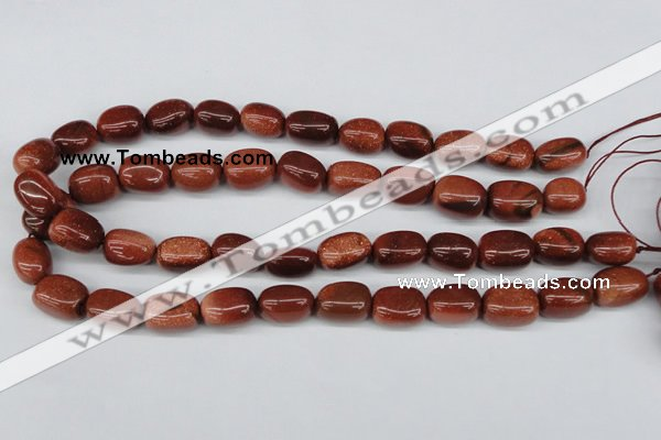 CNG19 15.5 inches 12*17mm nuggets goldstone gemstone beads