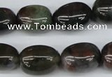 CNG20 15.5 inches 12*17mm nuggets Indian agate gemstone beads