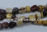 CNG206 15.5 inches 6*8mm nuggets mookaite gemstone beads