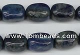 CNG21 15.5 inches 12*17mm nuggets lapis lazuli gemstone beads