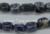 CNG212 15.5 inches 10*14mm nuggets sodalite gemstone beads